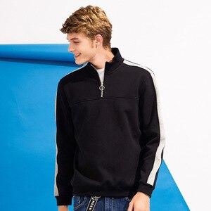 Image 2 - Pioneer camp retalhos zíper hoodies homens marca roupas de lã grossa outono inverno moletom masculino qualidade algodão awy702304