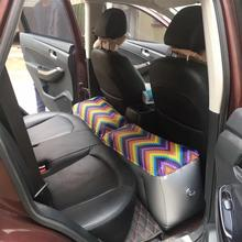Car Back Seat Inflatable Printed Air Bed Cushion