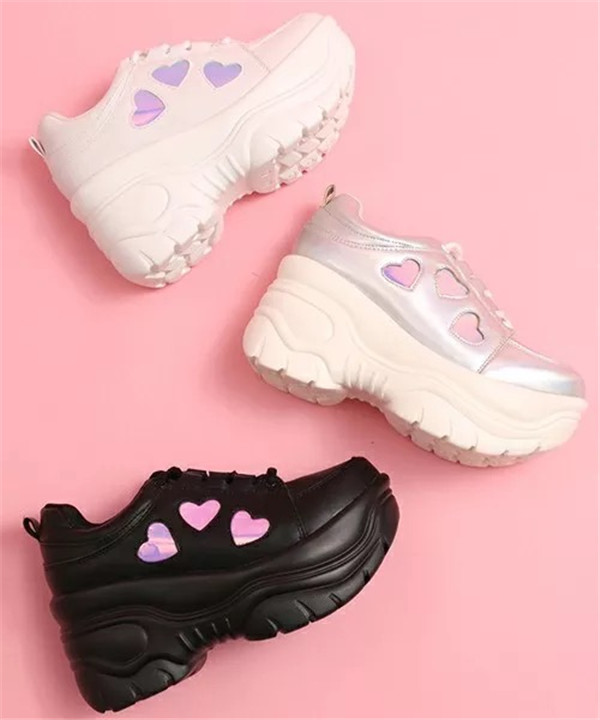 Japanese Lolita Sneakers Shoes Love Sweet Cute Student Princess Girl Thick bottom Shoes