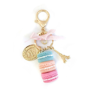 Image 5 - 10pcs/lot Girls Fashion Jewelry Keychains Macaroon Cake Model Pendant Key Ring Bags Ornament Keychain For Women Accessories