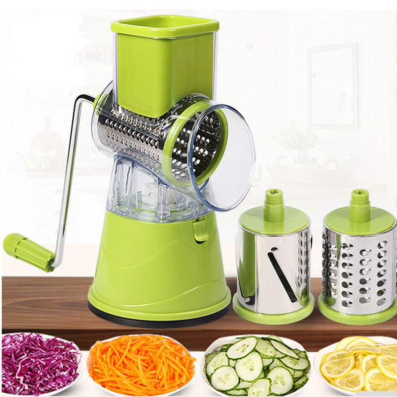 Vegetable Cutter garlic peeling machine Multifunctional Slicer Round Potato Cheese Kitchen Appliances Kitchen Accessories|Electric Peelers| |  -
