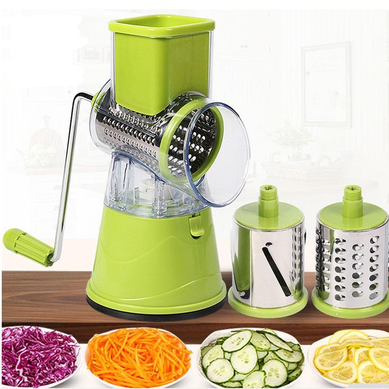 Vegetable Cutter Garlic Peeling Machine Multifunctional Slicer Round Potato Cheese Kitchen Appliances Kitchen Accessories