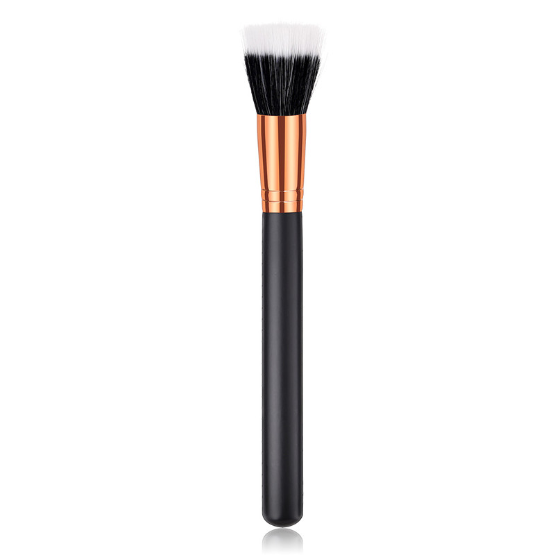1 Piece Professional Flat Facial Brush Duo Fiber Powder Blush Makeup Brushes Stippling Brush Cosmetic Beauty Tools