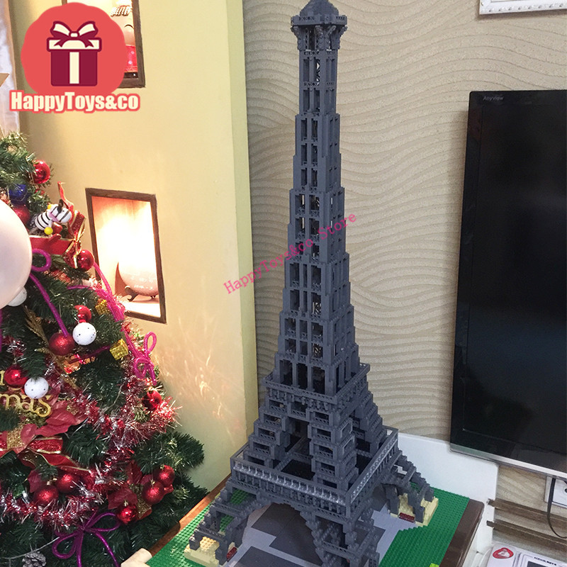 Street Scene series 10181 3478Pcs The Eiffel Tower toys For Children Gift 17002 Building Blocks Set Compatible Education