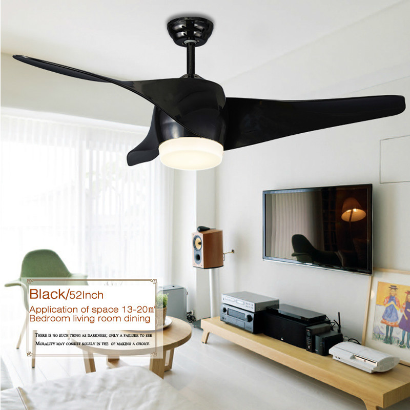 Vintage Ceiling Fan With Lights and Remote Control Retro Room Ceiling Fan Modern Black Ceiling Fan 52 inch in Ceiling Fans from Lights Lighting