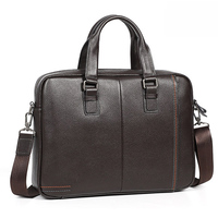 Cowhide Leather Briefcase Mens Genuine Leather Handbags Crossbody Bags Men's Large Capacity Business Bag Men Shoulder Laptop Bag