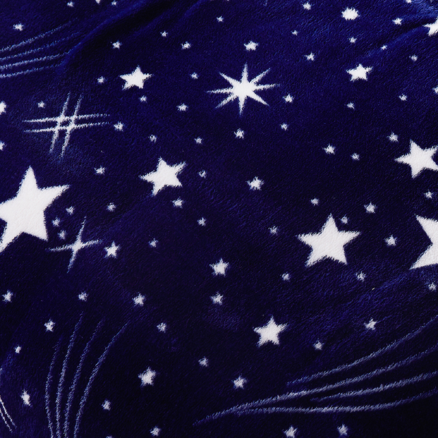 Polyester Blanket with Stars Pattern 5