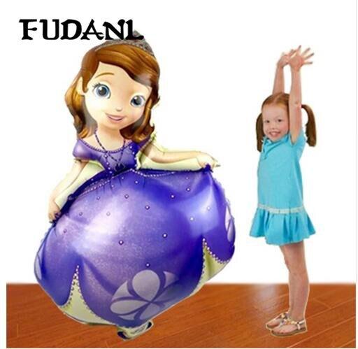 FUDANL-ballon à feuille princesse Sofia 1 pièces   ballon gonflable pour décoration de fête princesse anniversaire, ballon à hélium pour fête princesse Sofia