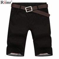 Riinr Shorts Men Summer Fashion Mens Shorts Casual Cotton Slim Bermuda Masculina Beach Shorts Joggers Trousers