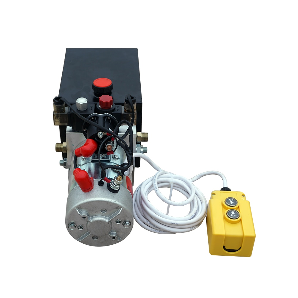 Qualité supérieure Double Effet Unité De Puissance Hydraulique 12 V remorque benne basculante-6 Quart 3200 PSI Max