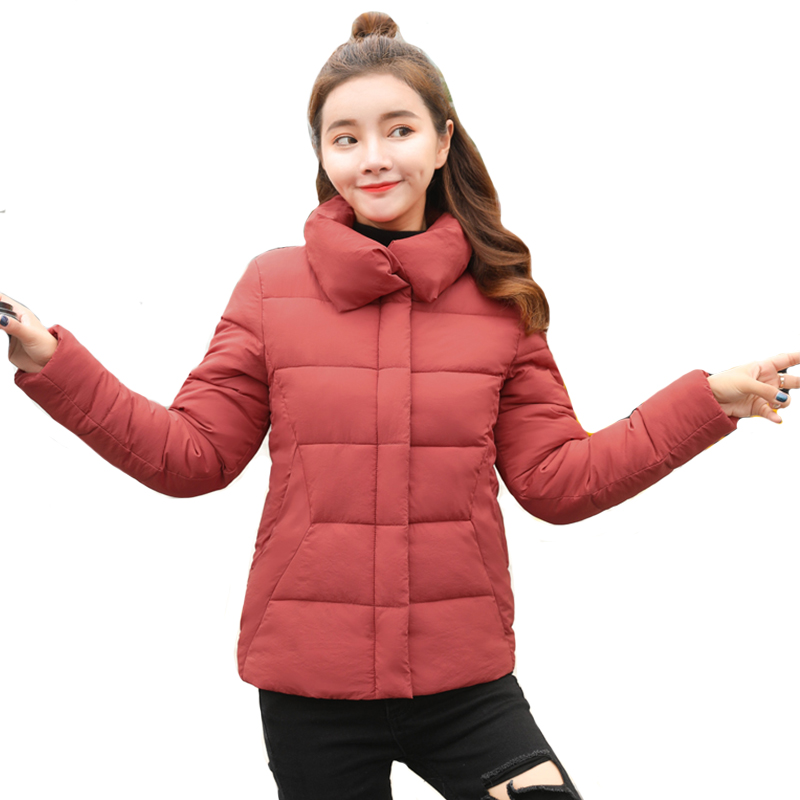 2019 New arrival women winter short   jackets   casual stand collar ladies coats slim design outwear chaqueta mujer   basic     jacket