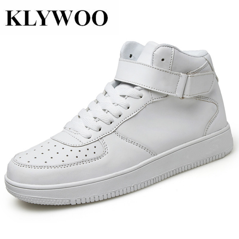 KLYWOO Fashion Shoes Men Sneakers Justin Bieber Men Boots SuperStar Hip Hop Leather Shoes Men High Top Shoes Men Casual Shoes men lighted shoes for 2018 casual shoes led shoes led fashion new arrival superstar men