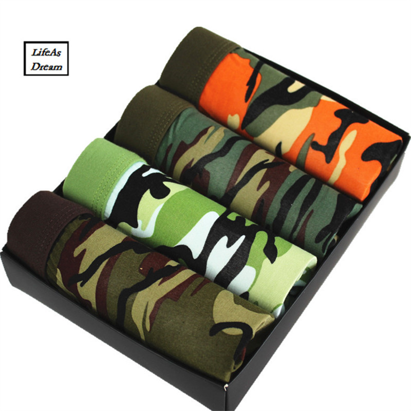 2018 New Boxers Best Selling Mens Underwear Plus Size Men's Boxer Shorts Fashion Breathable Modal Tide Men Soldier Camouflage