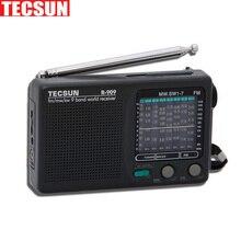 Oryginalny Tecsun R-909 R909 Radio FM / MW / SW 9 zespół słowo odbiornik Radio przenośne tecsun R909 wieża Stereo
