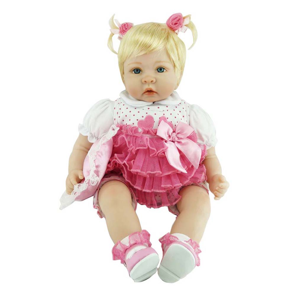 купить NPK 55cm/22inch Baby Reborn Dolls Cute Silicone Jointed Doll Toddler Lifelike Toys Birthday Gifts M09 по цене 4975.7 рублей