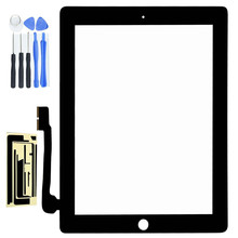Black Touch Screen Glass Digitizer Replacement  Assembly For iPad 3 3rd Free Shipping