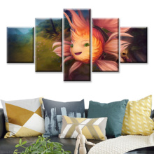 5 Piece HD Picture DOTA2 Video Game Poster Wall Sticker Lina Paintings Artwork Decoration Canvas Art for Home Decor