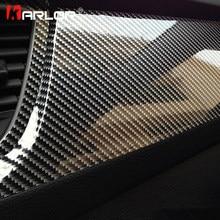 Película de vinilo para envolver fibra de carbono 5D, de alto brillo, 100cm x 30cm, pegatinas para motocicleta, tableta y calcomanías, accesorios para automóviles, estilismo para automóviles