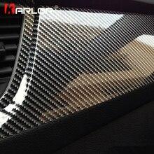 Film vinyle de recouvrement gainant haute brillance, Fiber de carbone 5D, recouvrement autocollant moto, décalcomanies, accessoires Auto, Car stylisation des voitures, 100cm x 30cm