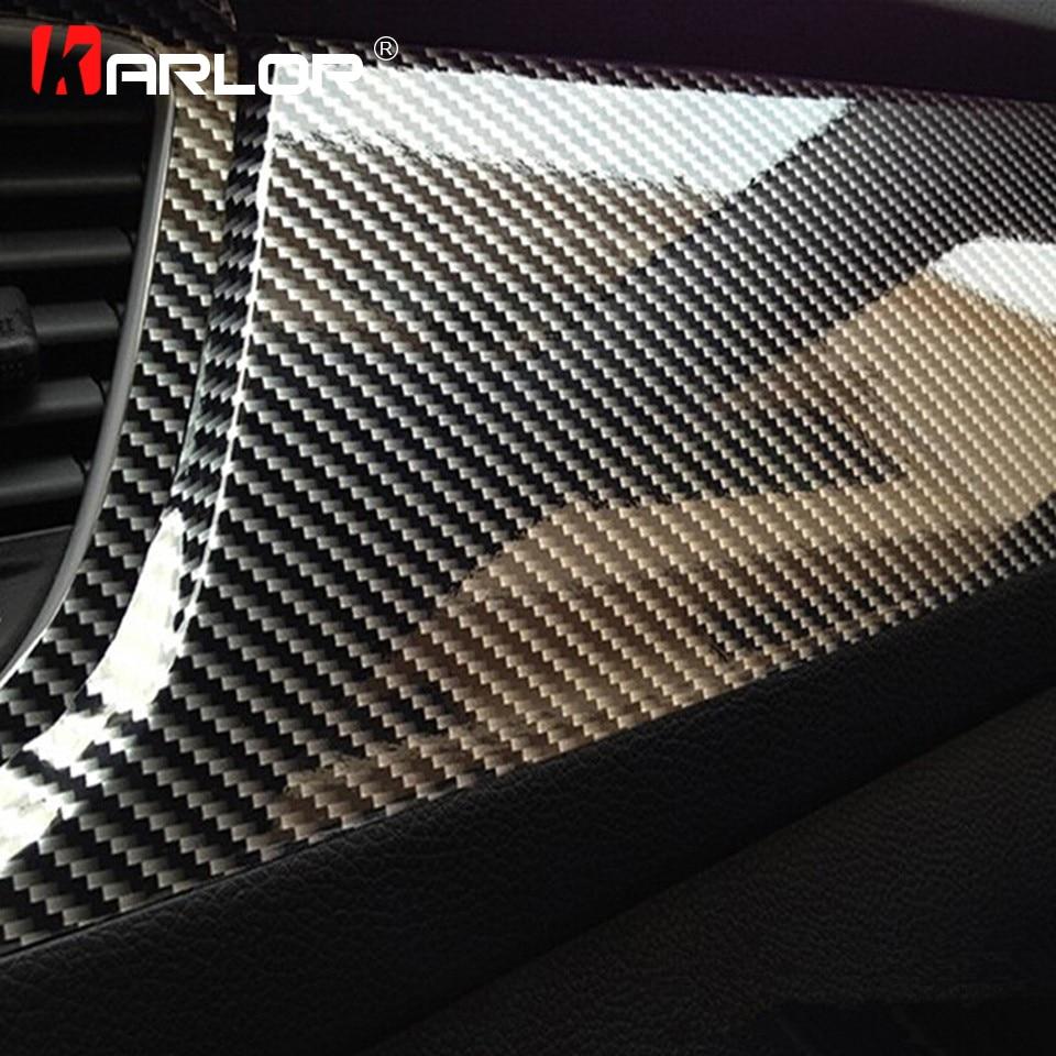Film vinyle haute brillance 5D | 100cm * 30cm, Fiber de carbone, emballage de tablette de moto, autocollants et autocollants accessoires Auto, style de voiture
