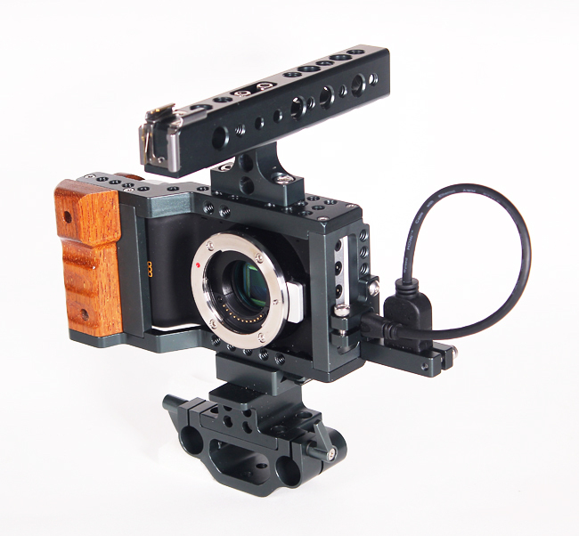 BMPCC Cage DSLR Rig Handle Grip 15mm BMPCC for Blackmagic Pocket Camera Free Shipping By dhl