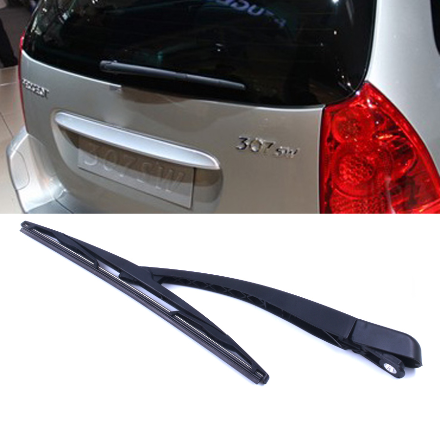 New Rear Windshield Wiper Windscreen Arm Blade Kit For Peugeot 307 Sw Estate 2002 2008 In