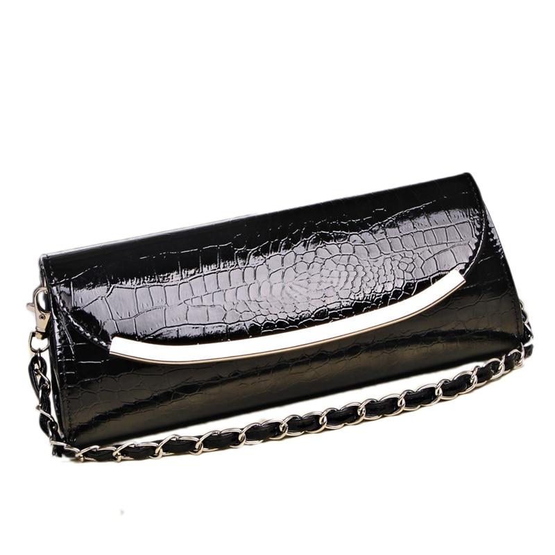 2017 Casual women leather handbag clutch bags fashion women bags chain women shoulder bag women evening bag purse designer bolsa