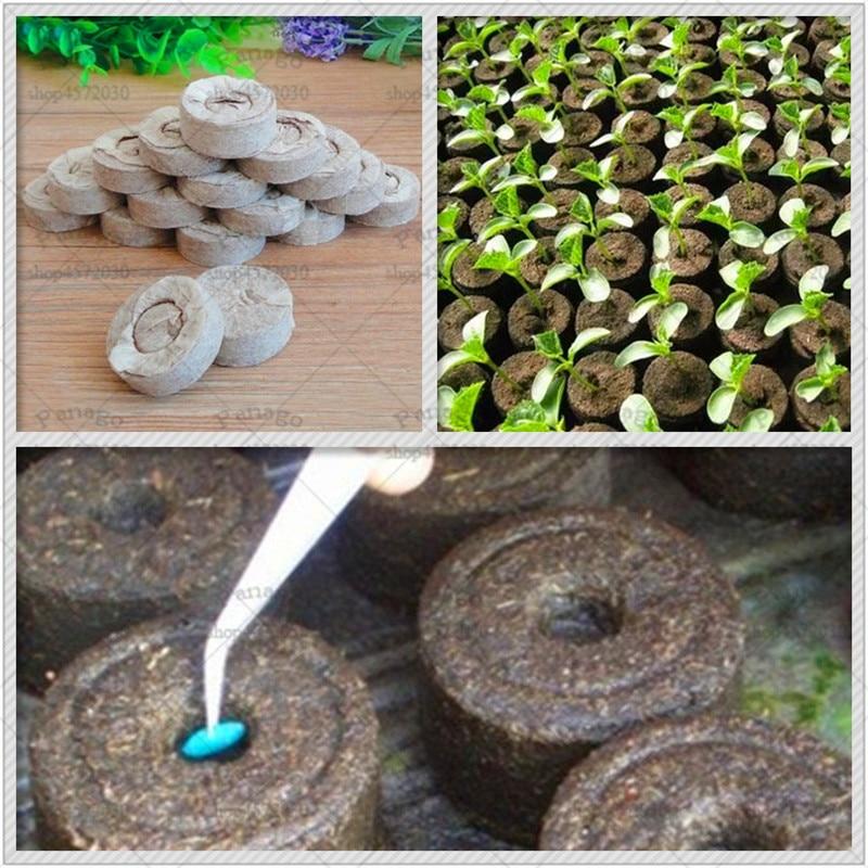 1 Piece/Lot Jiffy Orangic Matter Seedling Block 30mm Peat Bonsai Nursery Block Pots For Home Garden Tools Easy To Use