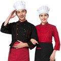 Шеф-повар одежда с длинными рукавами осенью и зимой отель ресторан кухня униформа униформа мужчины и женщины кухня одежда