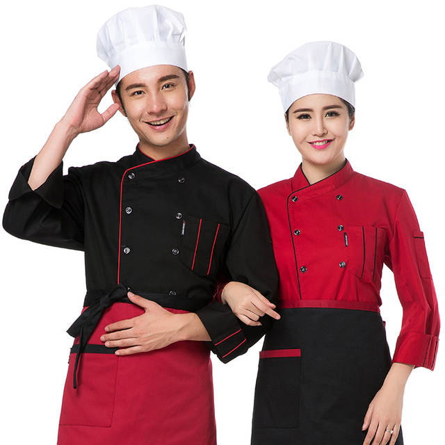 Us 14 36 21 Off Chef Clothing Long Sleeved Autumn And Winter Hotel Restaurant Kitchen Uniforms Uniforms Men And Women Kitchen Clothes In Chef