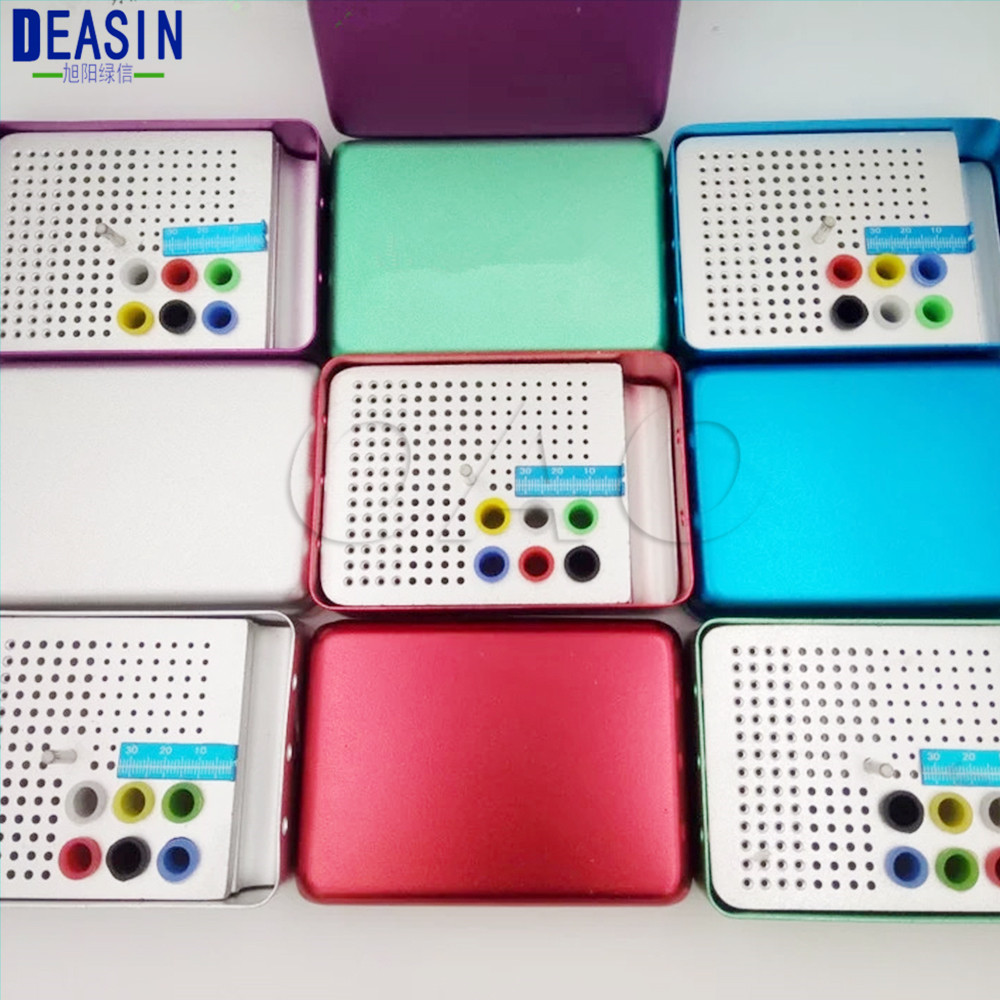 180Holes with ruler 5 colour Dental Disinfection Burs Holder Block Endo Stand Autoclavable Sterilizer Box Dentist Lab Equipment sale dental lab bur h k file holder block sterilizer case disinfection endo box set