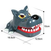 Large Fierce wolf Mouth Dentist Bite Finger Game Funny Novelty Gag Toy for Kids Children