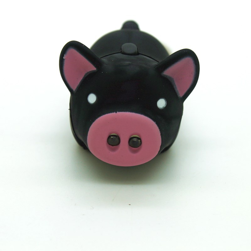 Cartoon Animal Novelty Toys with Sound Lovely Cute Mini Black Pig Toy Pendant with Light and Sound Key Chain Decor Birthday Gift