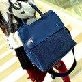 2016 Casual mujeres bolso de Las Mujeres pequeñas bolsas de hombro de la vendimia de mezclilla azul jeans crossbody bag ladies purse 2 colores bolsa feminina