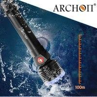 ARCHON дайвинг фонарик D22 II Cree XM L2 u2 led Макс 1200 люмен 100 м Подводный водонепроницаемая Дайвинг Факел Flash light