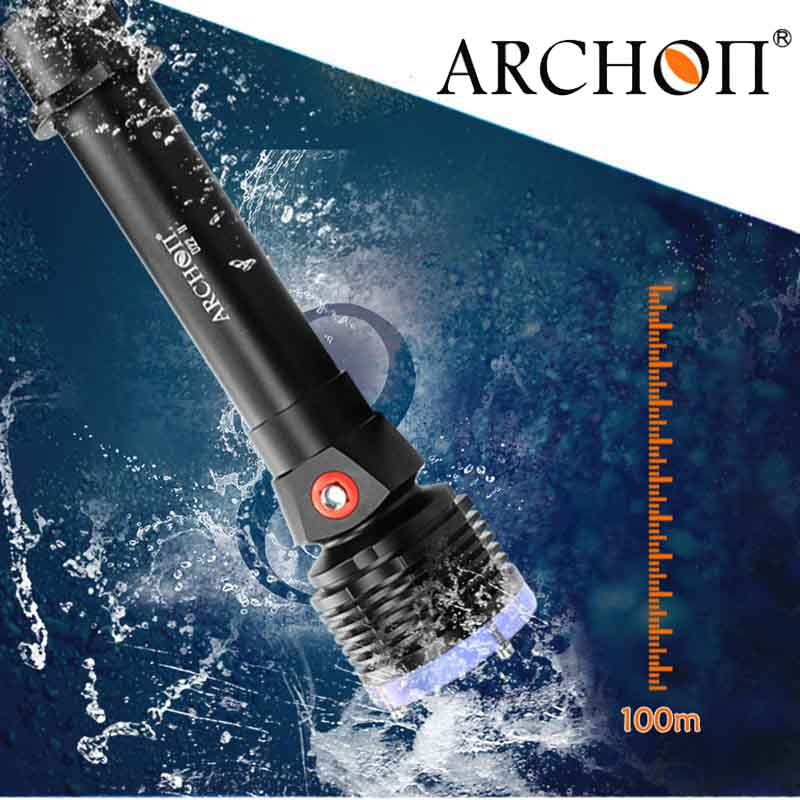 ARCHON Diving flashlight D22-II Cree xm-l2 u2 led max 1200 lumens 100 meters underwater waterproof diving torch Flash light 100% original archon d10s w16s diving flashlight cree xm l u2 led 860 lumens diving flashlight torch without battery