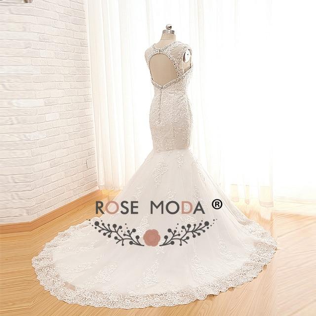 Rose Moda Lace Wedding Dress with Removable Jacket Lace Wedding Dresses Boho Cut Out Back Real Photos