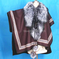 Autumn winter women lady real whole fox fur collar shawl Raccoon genuine fur coat shawl fur coat jacket Scarves overcoat clothes