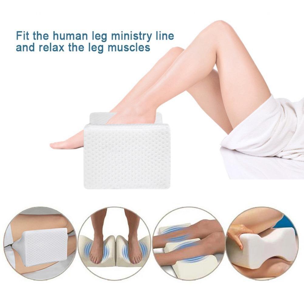 La rodilla de espuma de memoria pierna almohada cama cojín de la pierna forma el cuerpo de alivio del dolor almohada para las mujeres dormir