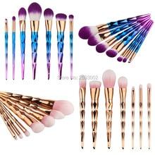 Professional 7 PCS Makeup Brushes Set Cosmetics Tools Eyeshadow Eye Face Foundation Make up Brush Kit Blush Soft Hair цена