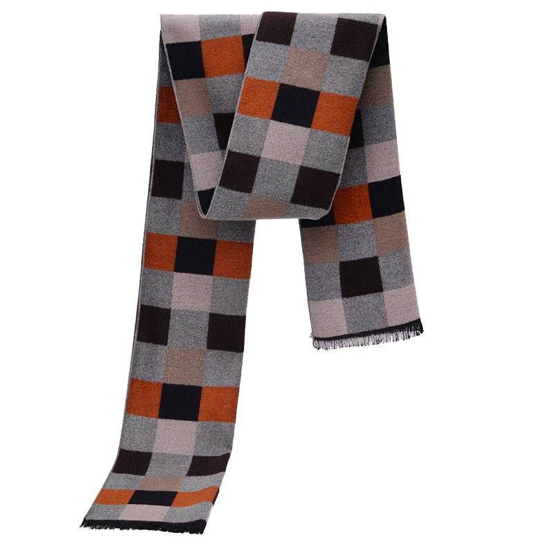 Men Plaid Scarf Winter Luxury Brand Cashmere Scarf Trendy font b Tartan b font Echarpe Hiver