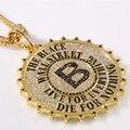 De alta qualidade de cartão grande pingente de colar de moda Hip hop rocha DJ acessórios bar dança ouro jóias jóias