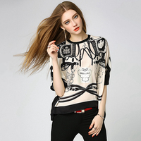 Blouse Women Novelty Design Asymmetrical Neck Long Sleeves Pocket Casual Patchwork Striped Shirt New Fashion Style