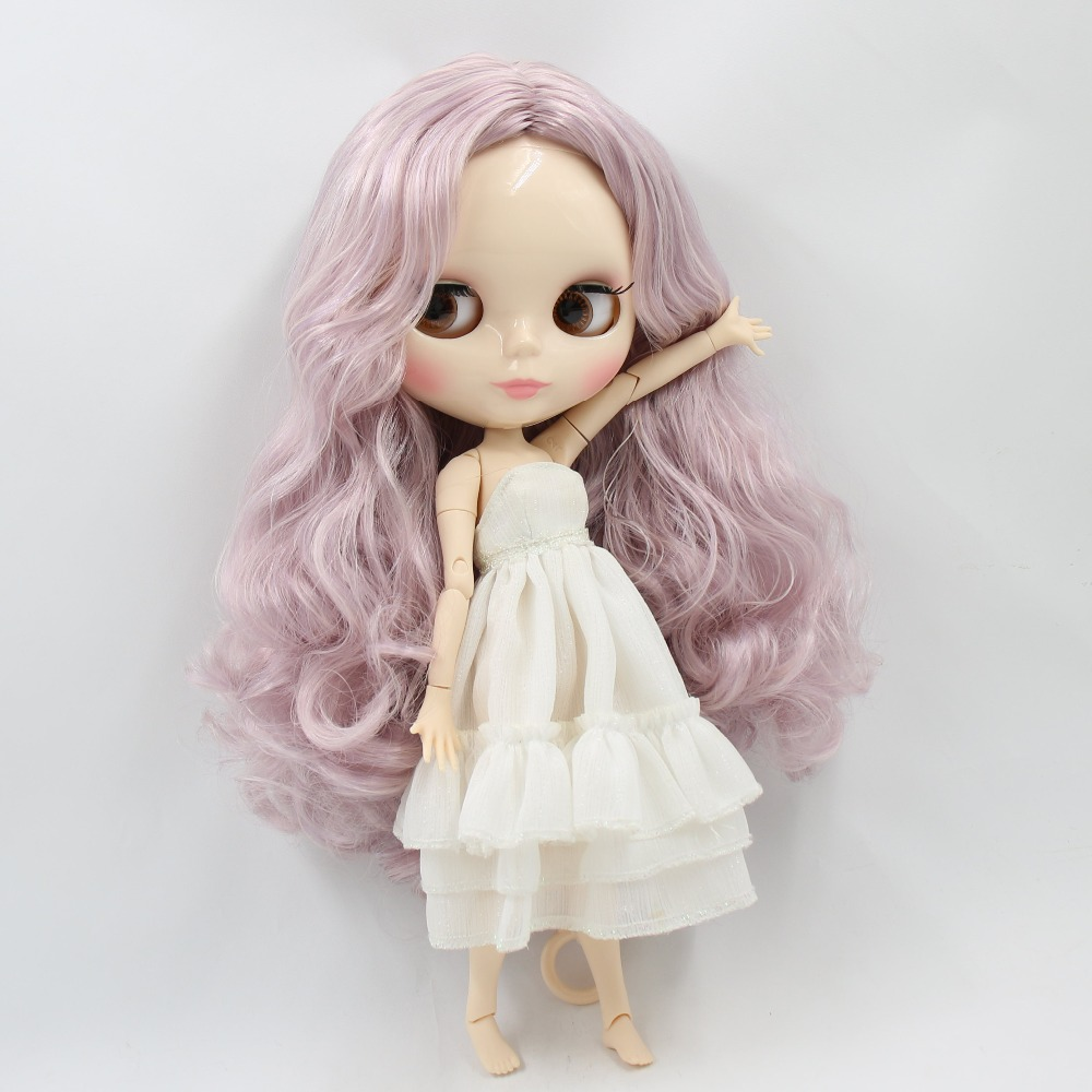 factory blyth doll 1 6 bjd joint body white skin pink mix purple hair BL2352 1049
