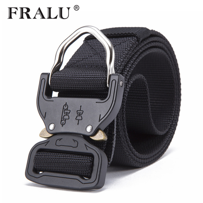 FRALU Combat Heavy Duty Knock Off Tactical Belt Men US Soldier Military Equipment Army Belts Sturdy Hook Nylon Waistband 3.8cm