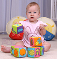 multifunctional baby cloth building blocks rattle Soft Play Cubes early  educational