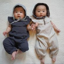 695b65303d97 Infant Toddler Boys Girls Japanese Style Ruffles Collar Rompers Baby Summer  New Fashion Cotton Linen Cute
