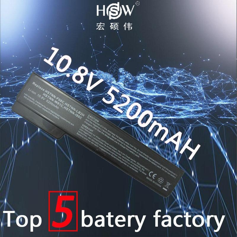 A HSW 6 células 5200 mAH Bateria para HP EliteBook 8460 p 8460 w 8560 p ProBook 6360b 6460b 6465b 6560b 6565b 628369-421 batteria akku