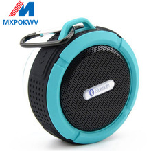 Portable Wireless Bluetooth Speaker Waterproof Sound Box Car Phone Handsfree Speakers With Sucker Cup Hook TF Card Music Player