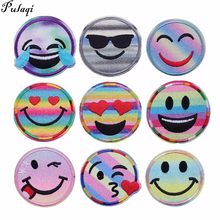 Pulaqi New Shinely Emoji Patch Iron-on Patches Embroidered Sewing Applique  For Clothes Apparel DIY 719dc55db0f5
